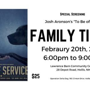 To Be Of Service Family Ticket